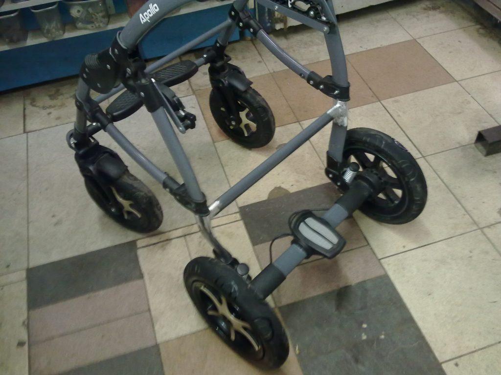 Ремонт аллюминивого каркаса детской коляски
